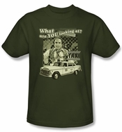 Taxi T-Shirt -  Whats A Matta Army Green Adult