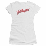 Ted Nugent Juniors Shirt Clean Logo White T-Shirt