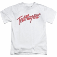 Ted Nugent Kids Shirt Clean Logo White T-Shirt