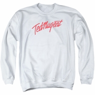 Ted Nugent Sweatshirt Clean Logo Adult White Sweat Shirt