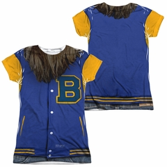 Teen Wolf Varsity Jacket Sublimation Juniors Shirt Front/Back Print