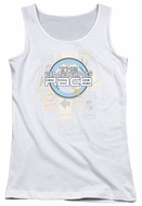 The Amazing Race Juniors Tank Top Road Sign White Tanktop