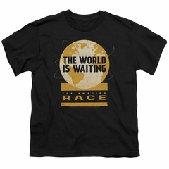 The Amazing Race Kids Shirt Waiting World Black T-Shirt