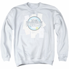 The Amazing Race Sweatshirt Road Sign Adult White Sweat Shirt