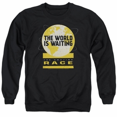 The Amazing Race Sweatshirt Waiting World Adult Black Sweat Shirt