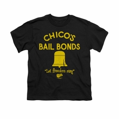 The Bad News Bears Shirt Kids Stone Logo Black Youth Tee T-Shirt