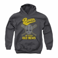 The Bad News Bears Youth Hoodie Always Bad News Charcoal Kids Hoody