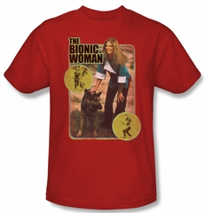 The Bionic Woman Shirt Jamie And Max Adult Red Tee T-Shirt
