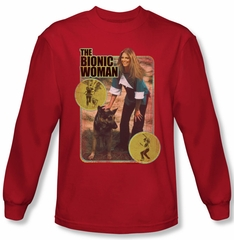 The Bionic Woman Shirt Jamie And Max Long Sleeve Red Tee T-Shirt