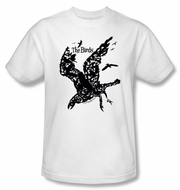 The Birds T-shirt Movie Title Adult White Tee Shirt