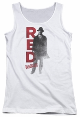 The Blacklist Juniors Tank Top Red Reddington White Tanktop