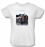 The Blues Brothers Ladies T-shirt Movie Distressed Poster White Tee