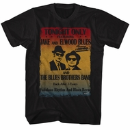 The Blues Brothers Shirt Poster Black T-Shirt