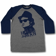 The Blues Brothers Shirt Raglan Holy Man Grey/Navy Shirt