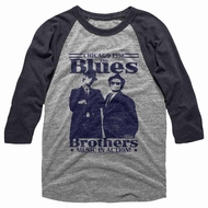 The Blues Brothers Shirt Raglan Music In Action Grey/Black Shirt
