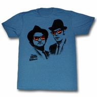 The Blues Brothers Shirt Shades Slate Blue T-Shirt