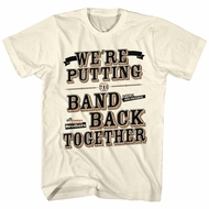 The Blues Brothers Shirt We're Putting The Band Back Natural T-Shirt