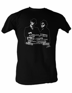 The Blues Brothers T-Shirt 106 Miles To Chicago Adult Black Tee Shirt