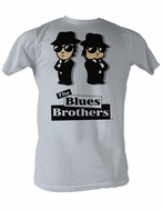 The Blues Brothers T-shirt Avatars Adult Gray Tee Shirt