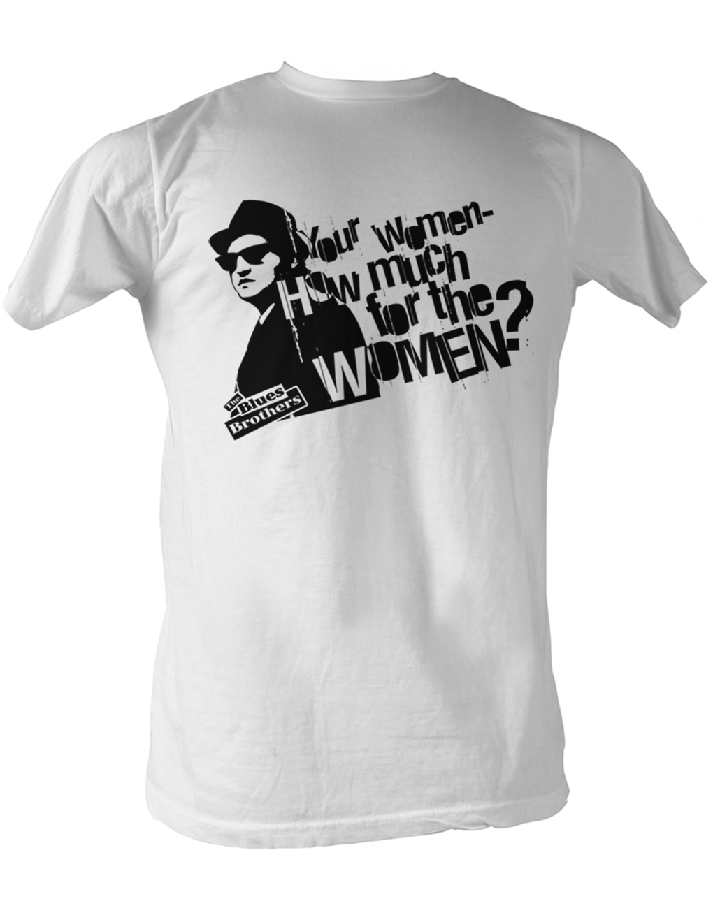 The blues brothers t shirt how much for the women white for How much is a shirt