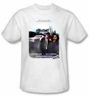 The Blues Brothers T-shirt Movie Distressed Poster Adult White Shirt