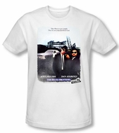 The Blues Brothers T-shirt Movie Distressed Poster White Slim Fit Tee