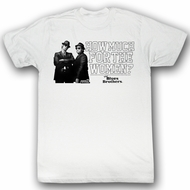 The Blues Brothers T-shirt Movie Women Adult White Tee Shirt