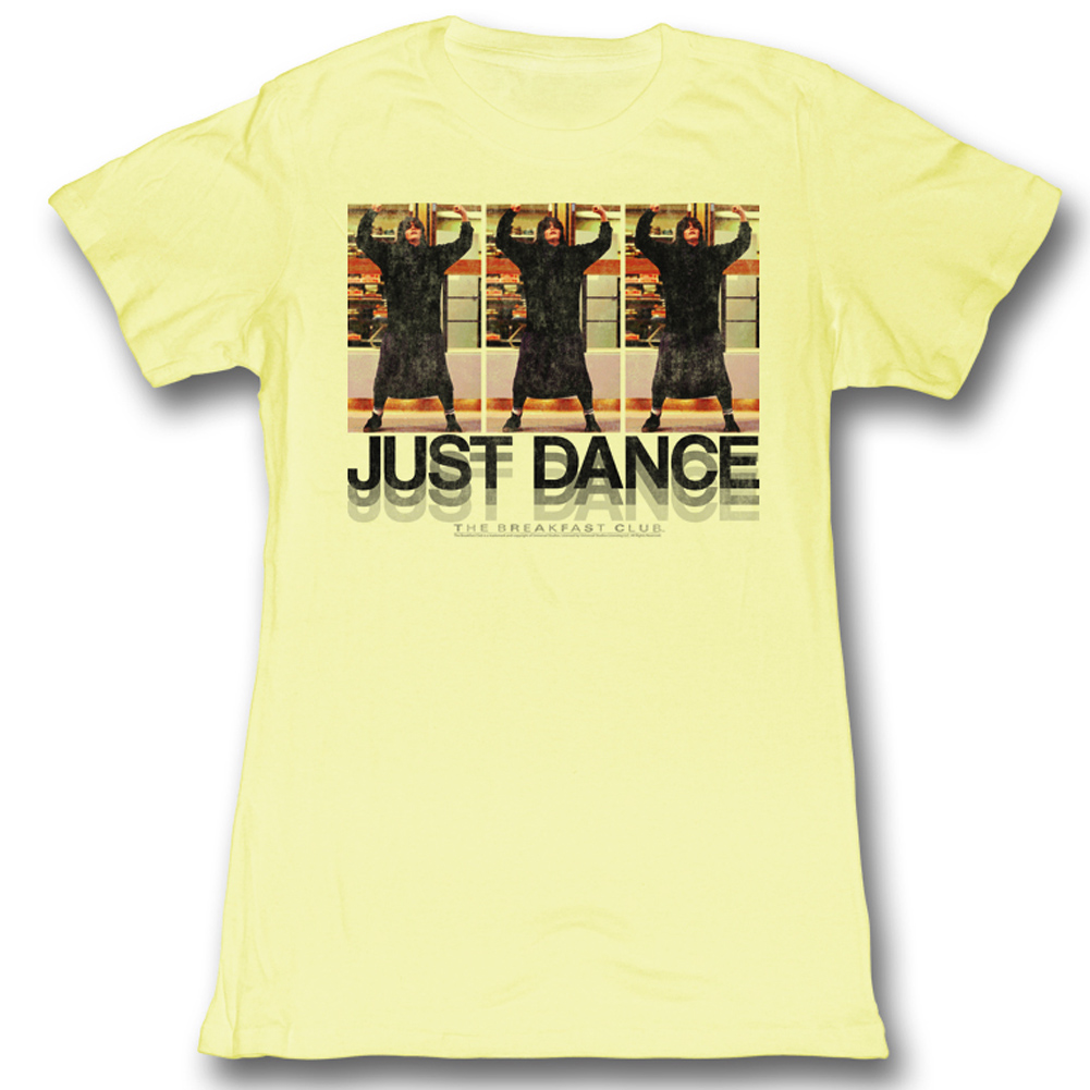 The breakfast club juniors shirt just dance yellow tee t for T shirts for clubs
