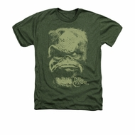 The Dark Crystal Shirt Aughra Adult Heather Military Green Tee T-Shirt