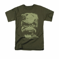 The Dark Crystal Shirt Aughra Adult Military Green Tee T-Shirt