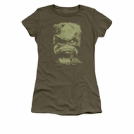 The Dark Crystal Shirt Aughra Juniors Military Green Tee T-Shirt