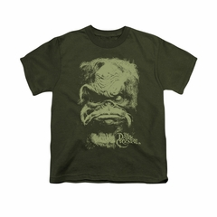 The Dark Crystal Shirt Aughra Kids Military Green Youth Tee T-Shirt