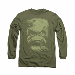The Dark Crystal Shirt Aughra Long Sleeve Military Green Tee T-Shirt