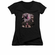 The Dark Crystal Shirt Juniors V Neck Power Mad Black Tee T-Shirt