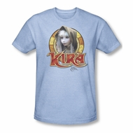 The Dark Crystal Shirt Kira Circle Adult Heather Light Blue Tee T-Shirt