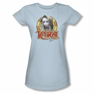 The Dark Crystal Shirt Kira Circle Juniors Light Blue Tee T-Shirt