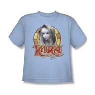 The Dark Crystal Shirt Kira Circle Kids Light Blue Youth Tee T-Shirt