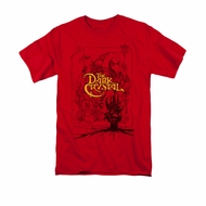 The Dark Crystal Shirt Poster Lines Adult Red Tee T-Shirt