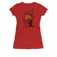 The Dark Crystal Shirt Poster Lines Juniors Red Tee T-Shirt