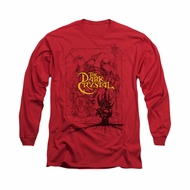 The Dark Crystal Shirt Poster Lines Long Sleeve Red Tee T-Shirt