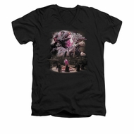 The Dark Crystal Shirt Power Mad Slim Fit V Neck Black Tee T-Shirt
