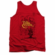 The Dark Crystal Tank Top Poster Lines Red Tanktop