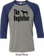 The Dog Father Black Print Mens Raglan Shirt