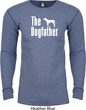 The Dog Father White Print Long Sleeve Thermal Shirt