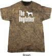 The Dog Father White Print Mineral Tie Dye Shirt