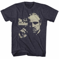The GodFather Shirt Distressed Photo Charcoal T-Shirt