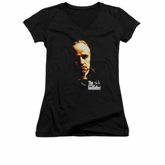The Godfather Shirt Juniors V Neck Don Vito Black Tee T-Shirt