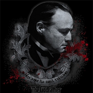 The Godfather Shirt Showing Respect Adult Black Tee T-Shirt