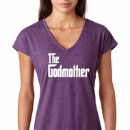 The Godmother White Print Ladies Shirts