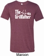 The Grillfather White Print Mens Tri Blend Crewneck Shirt